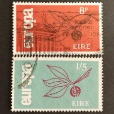 Sellos: IRLANDA, EUROPA CEPT 1965 USADOS (FOTOGRAFÍA REAL). Lote 204111831