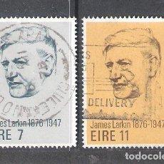 Sellos: IRLANDA Nº 338/339º CENTENARIO DEL NACIMIENTO DEL LÍDER OBRERO JAMES LARKIN. SERIE COMPLETA. Lote 204670827