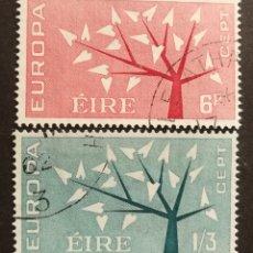 Sellos: IRLANDA, EUROPA CEPT 1962 COMPLETA Y USADA (FOTOGRAFÍA REAL). Lote 205564337