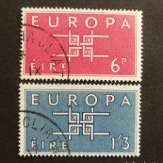 Sellos: IRLANDA, EUROPA CEPT 1963 COMPLETA Y USADA (FOTOGRAFÍA REAL). Lote 205569827