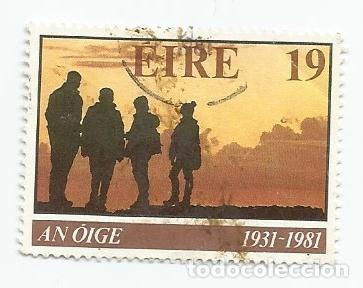 2 SELLOS USADOS DE IRLANDA - SERIE AN OIGE YVERT 448 DE 1981 - SERIE NAVIDAD YVERT 615 DE 1986 (Sellos - Extranjero - Europa - Irlanda)