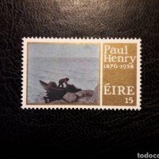 Sellos: IRLANDA YVERT 352 SERIE COMPLETA NUEVA ***. PINTURAS. ARTE CONTEMPORÁNEO. PAUL HENRY. Lote 206922901