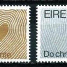 Sellos: IRLANDA 1972 - CAMPAÑA MUNDIAL SOBRE EL CORAZON - YVERT Nº 276/277**. Lote 210127241