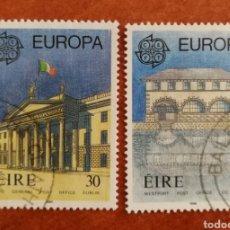Timbres: IRLANDA, EUROPA CEPT 1990 USADOS (FOTOGRAFÍA REAL). Lote 213730076