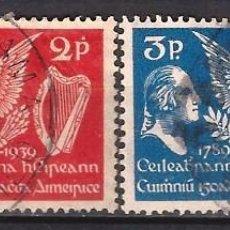 Sellos: IRLANDA 1939 - 150º ANIVERSARIO DE LA CONSTITUCIÓN DE ESTADOS UNIDOS, S.COMPLETA - USADOS. Lote 216413122