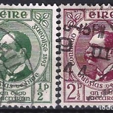 Sellos: IRLANDA 1943 - 50º ANIV. LIGA GAÉLICA, PRESIDENTE DUBHBGAS DE HIDE, S.COMPLETA - USADOS. Lote 216413492
