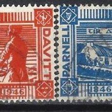 Sellos: IRLANDA 1946 - CENTENARIO DEL NACIMIENTO DE LOS PATRIOTAS PARNELL Y DAVITT, S.COMPLETA - USADOS. Lote 216413731