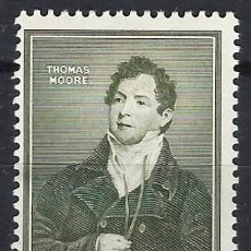 Sellos: IRLANDA 1952 - CENTENARIO DE LA MUERTE DEL POETA THOMAS MOORE 1779-1852 - MH*. Lote 216413940