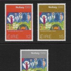 Sellos: IRLANDA. YVERT NSº 433/35 NUEVOS Y DEFECTUOSOS. Lote 218644065