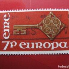 Sellos: IRLANDA, 1968, EUROPA, YVERT 203. Lote 222152495