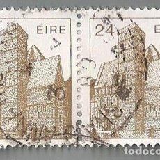 Sellos: LOTE 2 SELLOS POSTALES ROCK OF CASHEL IRLANDA/24P. IRISH POSTAGE STAMPS - ÉIRE/IRELAND, CA.1982. Lote 136133974