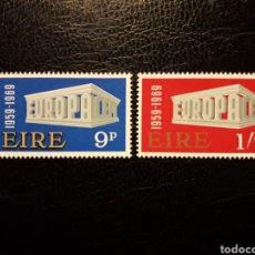 Sellos: IRLANDA YVERT 232/3 SERIE COMPLETA NUEVA ***. EUROPA CEPT 1969.. Lote 224563542