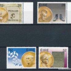 Sellos: IRLANDA 1994 IVERT 877/80 *** LAUREADOS IRLANDESES CON EL PREMIO NOBEL - PERSONAJES. Lote 225156651