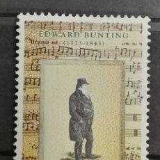 Sellos: IRLANDA, MÚSICA EDWARD' BUNTING 1993 MNH**(FOTOGRAFÍA REAL). Lote 225156860