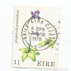 Sellos: SELLO USADO DE IRLANDA DE 1978- FLORES SILVESTRES - YVERT 380- VALOR 11 PENIQUES-. Lote 230071205
