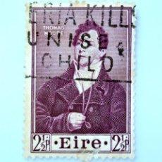 Sellos: SELLO POSTAL IRLANDA 1952 , 2 1/2 P , THOMAS MOORE, USADO. Lote 233541530