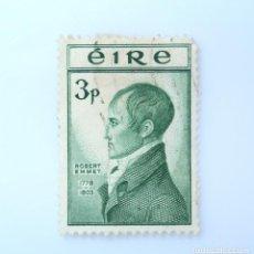 Sellos: SELLO POSTAL IRLANDA 1953 , 3 P , ROBERT EMMET, USADO. Lote 233546305