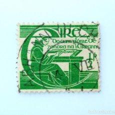Sellos: SELLO POSTAL IRLANDA 1944 , 1/2 P , TRICENTENARIO DE LA MUERTE DE MICHAEL O'CLERY, USADO. Lote 233566825