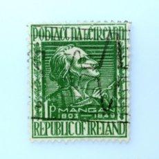 Sellos: SELLO POSTAL IRLANDA 1949 , 1 P , JAMES CLARENCE MANGAN, USADO. Lote 233568820
