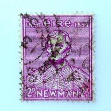 Sellos: SELLO POSTAL IRLANDA 1954 ,2 P ,C. NEWMAN, CENTENARIO FUNDACIÓN DE LA UNIVERSIDAD CATÓLICA, USADO. Lote 233573095