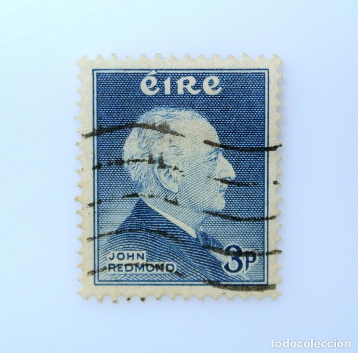 SELLO POSTAL IRLANDA 1957 ,3 P , BICENTENARIO DEL LIDER POLÍTICO JOHN REDMOND, USADO (Sellos - Extranjero - Europa - Irlanda)