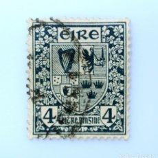 Sellos: SELLO POSTAL IRLANDA 1923 ,4 P , ESCUDO DE ARMAS, USADO. Lote 233599065