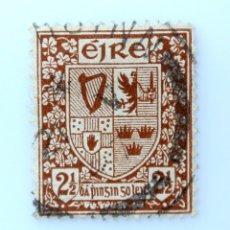 Sellos: SELLO POSTAL IRLANDA 1941 , 2 1/2 P , ESCUDO DE ARMAS, USADO. Lote 233699905