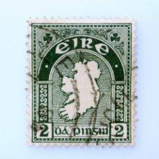 Sellos: SELLO POSTAL IRLANDA 1940 , 2 P , MAPA, USADO. Lote 233701060
