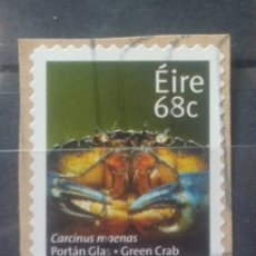 Sellos: IRLANDA CANGREJO SELLO USADO NO LAVABLE. Lote 240134715