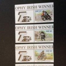 Sellos: IRLANDA Nº YVERT 949/2*** AÑO 1996-MOTOCICLISMO. IRLANDESES VENCEDORES EN LA ISLA DE MAN. Lote 241323205
