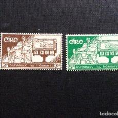Sellos: IRLANDA Nº YVERT 140/1*** AÑO 1958. 21 ANIVERSARIO DE LA CONSTITUCION. Lote 242008455