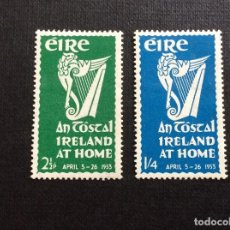Sellos: IRLANDA Nº YVERT 118/9*** AÑO 1953. FESTIVAL. Lote 242008695