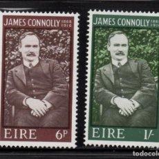 Sellos: IRLANDA 207/08** - AÑO 1968 - CENTENARIO DEL NACIMIENTO DE JAMES CONNOLLY. Lote 242163695