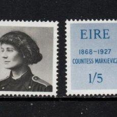 Sellos: IRLANDA 209/10** - AÑO 1968 - CENTENARIO DEL NACIMIENTO DE LA CONDESA MARKIEVICZ. Lote 262491320