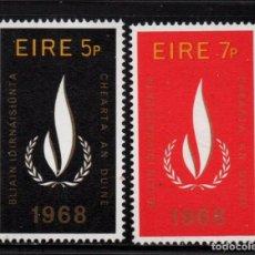 Sellos: IRLANDA 227/28** - AÑO 1968 - AÑO INTERNACIONAL DE LOS DERECHOS HUMANOS. Lote 242164765
