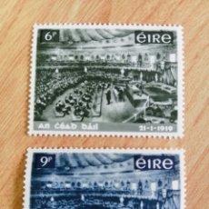 Sellos: IRLANDA. 1969. YVERT 229/230. 50° ANIVERSARIO DEL PARLAMENTO NACIONAL. PRIMERA ASAMBLEA.. Lote 244514485