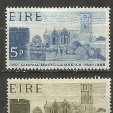 Timbres: IRLANDA YVERT NUM. 205/206 * SERIE COMPLETA CON FIJASELLOS. Lote 249170585