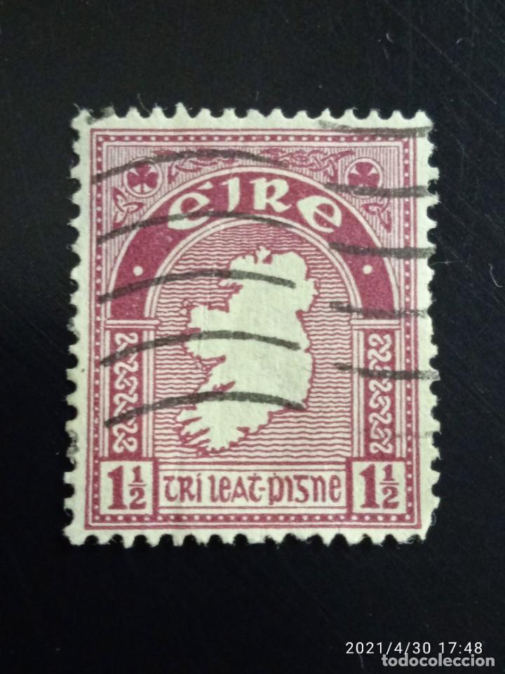 IRLANDA 1,1/2, TIPOGRAFÍA AÑO 1922. (Sellos - Extranjero - Europa - Irlanda)