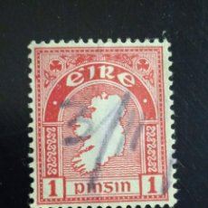 Sellos: IRLANDA 1 PINSIN, TIPOGRAFIA AÑO 1922.. Lote 262781275