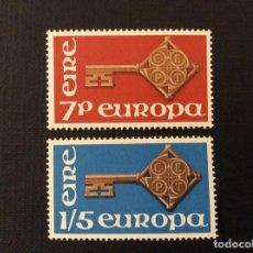 Sellos: IRLANDA Nº YVERT 203/4*** AÑO 1968. EUROPA. Lote 266973534