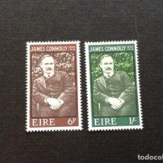 Sellos: IRLANDA Nº YVERT 207/8*** AÑO 1968. CENTENARIO NACIMIENTO DE JAMES CONNOLY. Lote 267416629