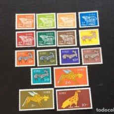 Sellos: IRLANDA Nº YVERT 211/26*** AÑO 1968-9. SERIE CORRIENTE. ANIMALESS ESTILIZADOS. Lote 267416774