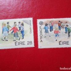 Sellos: -IRLANDA, 1989, EUROPA, JUEGOS INFANTILES, YVERT 682/3. Lote 285765413