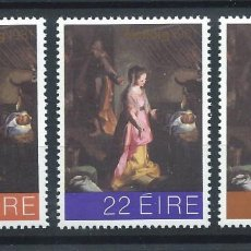 "Sellos: IRLANDE N°458/60** (MNH) 1981 - NOËL ""TABLEAU DE FEDERICO BAROCCI"". Lote 287210273"