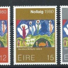 """Sellos: IRLANDE N°433/35** (MNH) 1980 - NOËL """"PEINTURE ENFANTINE"""". Lote 287211688"""