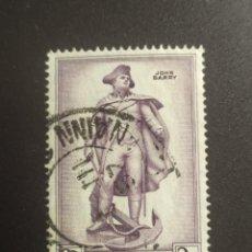 Sellos: ## IRLANDA USADO 1957 JOHN BARRY ##. Lote 288927198