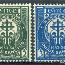 Sellos: IRLANDA 1933 IVERT 62/3 ** AÑO SANTO. Lote 289317758
