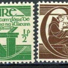 Sellos: IRLANDA 1944 IVERT 99/100 ** 300º ANIVERSARIO DE LA MUERTE DEL FRAILE MICHAEL O´CLEIRIGH. Lote 289321448
