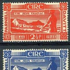 Sellos: IRLANDA 1946 IVERT 104/5 ** CENTENARIO DEL NACIMIENTO DE LOS PATRIOTAS S. PARNELL Y M. DAVITT.. Lote 289322048