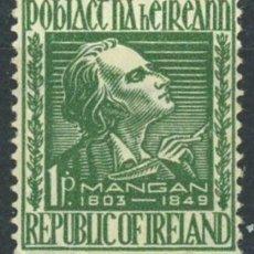 Sellos: IRLANDA 1949 IVERT 112 ** CENTENARIO DE LA MUERTE DEL POETA J.C.MANGAN. Lote 289322908